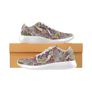 Digitalis Purpurea Flora Women's Running Shoes (Model 020)