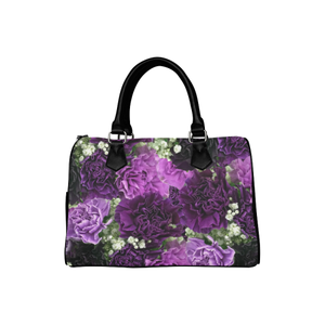 Little Purple Carnations Boston Handbag (Model 1621)