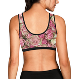 Your Pink Roses Women's All Over Print Sports Bra (Model T52)