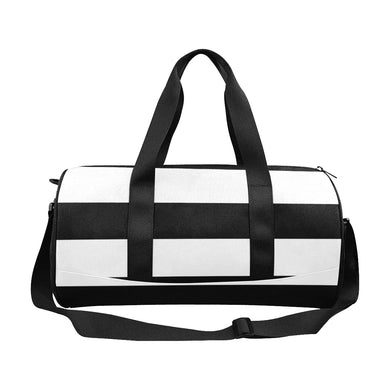 Black White Stripes Duffle Bag (Model 1679)