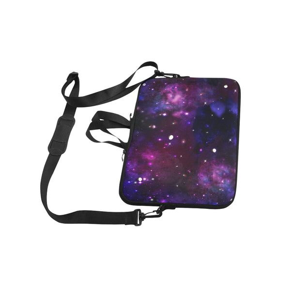 Midnight Blue Purple Galaxy Laptop Handbags 15