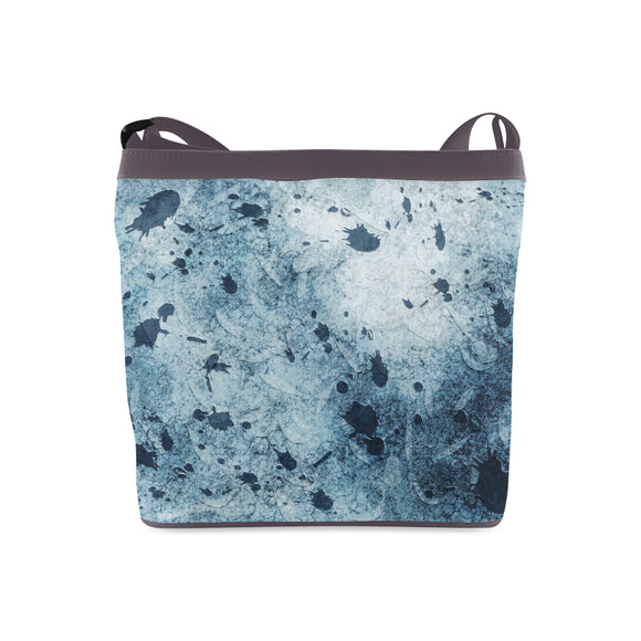 Water Blue Splatter Crossbody Bags (Model 1613)