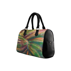 Abstract Colorful Glass Boston Handbag (Model 1621)