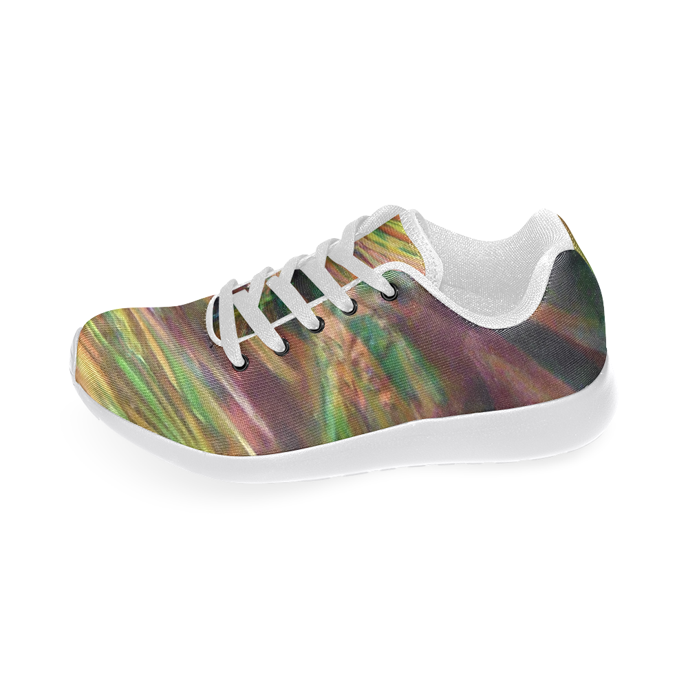 Abstract Colorful Glass Women's Running Shoes (Model 020)