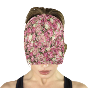 Your Pink Roses All Over Print Dad Cap (6-Pieces Customization)