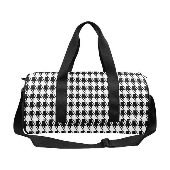Black White Houndstooth Duffle Bag (Model 1679)