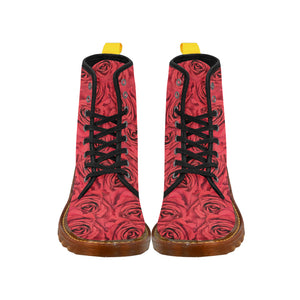 Radical Red Roses Martin Boots For Women Model 1203H