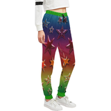 Rainbow Stars Women's All Over Print Sweatpants (Model L11)