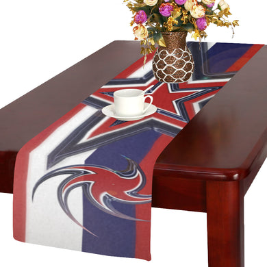 Tricolor Stars Stripes Table Runner 14x72 inch
