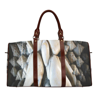 Vignette Sea Shells Waterproof Travel Bag/Small (Model 1639)