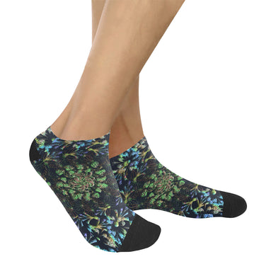 Black Russian Flora Women's Ankle Socks