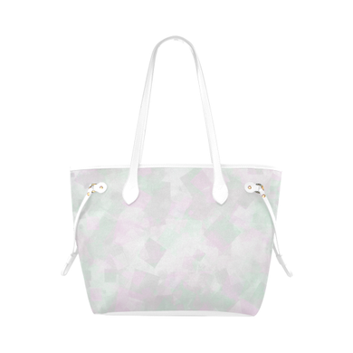 Clear Amour Snuff Mint Clover Canvas Tote Bag (Model 1661)