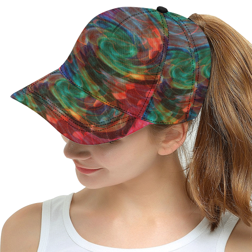 Ray of Twirls All Over Print Snapback Hat D