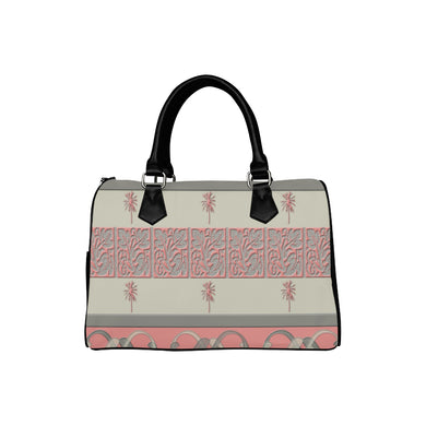 Cheery Coral Pink Boston Handbag (Model 1621)