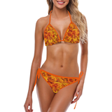 Grenadier Tangerine Roses Custom Bikini Swimsuit (Model S01)