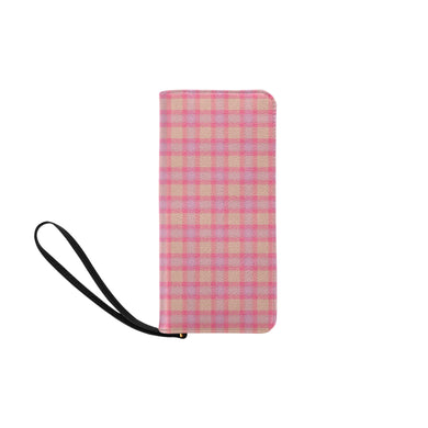 Pink Purple Plaid Women's Clutch Purse (Model 1637)