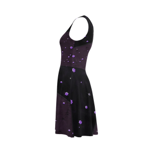 Lost Midnight Charcoal Stars Atalanta Sundress (Model D04)