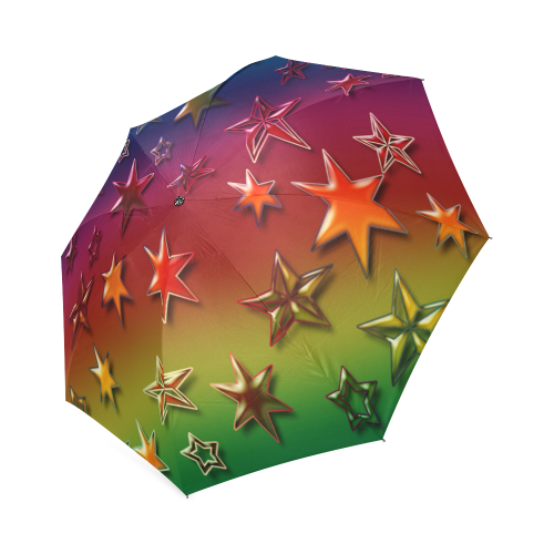 Rainbow Stars Foldable Umbrella