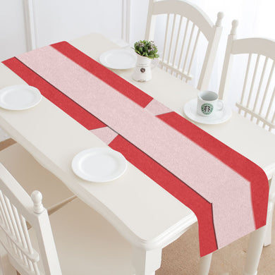 Shades of Red Patchwork Table Runner 14x72 inch