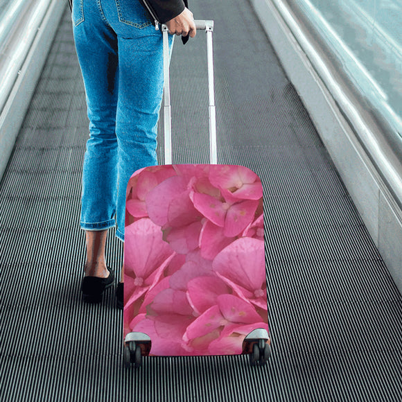 Dark Pink Flowers Luggage Cover/Small 24'' x 20''