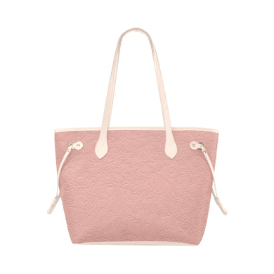 Sea Pink Sundown Clover Canvas Tote Bag (Model 1661)