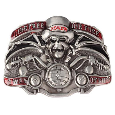 Spider Skull Men Belt Buckle