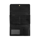 Black White Tiles Women's Trifold Wallet (Model 1675)