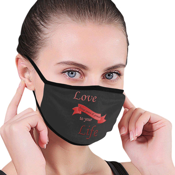 Love Brings Peace Mouth Mask