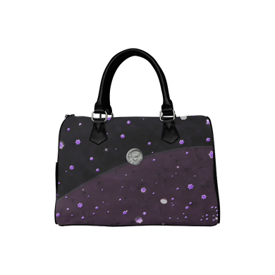 Lost Midnight Charcoal Stars Boston Handbag (Model 1621)