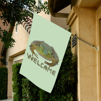 Welcome Frogs Garden Flag 28''x40'' (Without Flagpole)