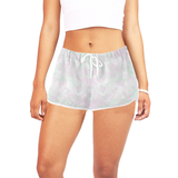 Clear Amour Snuff Mint Women's All Over Print Relaxed Shorts (Model L19)