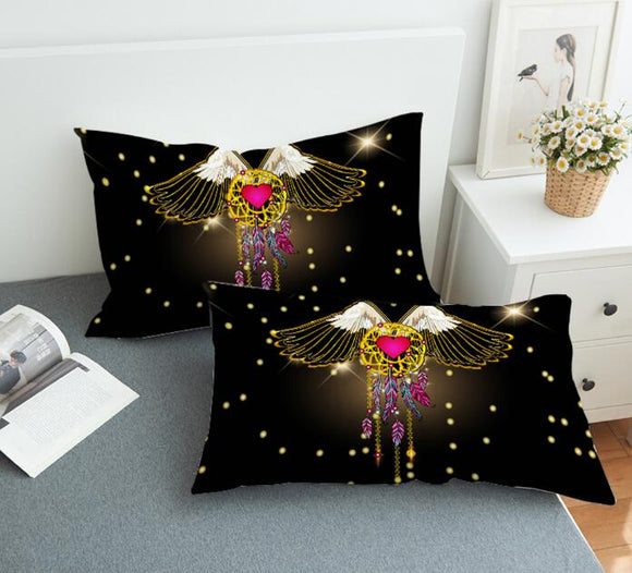 Bedding Pillowcase Flying Dream Catcher 3D Print Pillow Cover