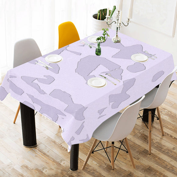 Lavender Moon Raker Cotton Linen Tablecloth 52