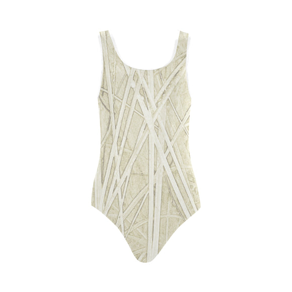 Alabaster Akaroa Vest One Piece Swimsuit (Model S04)