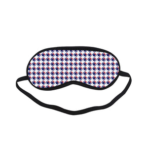Red White Blue Houndstooth Sleeping Mask