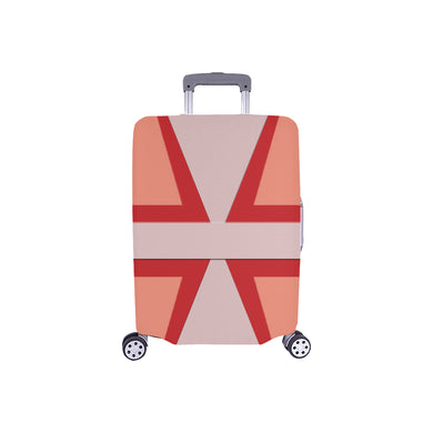 Shades of Red Patchwork Luggage Cover/Small 24'' x 20''