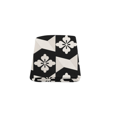 Black White Tiles Blanket 40