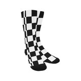 Black White Checkers Trouser Socks