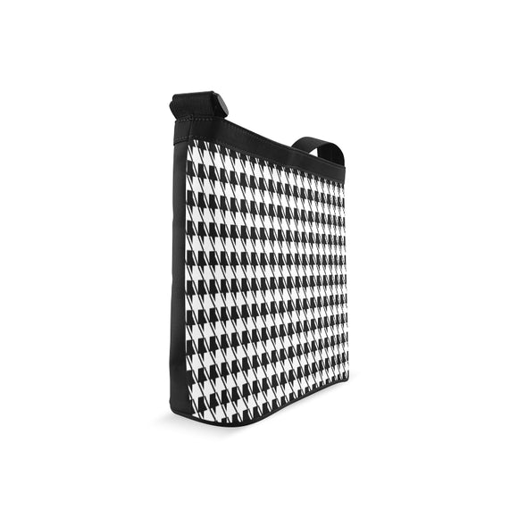 Black White Houndstooth Crossbody Bags (Model 1613)