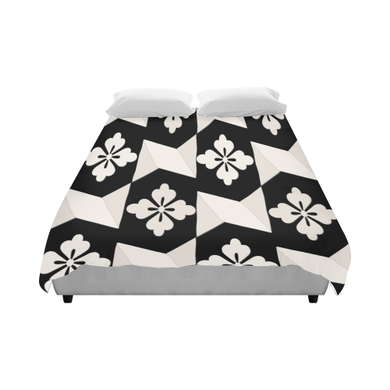 Black White Tiles Duvet Cover 86