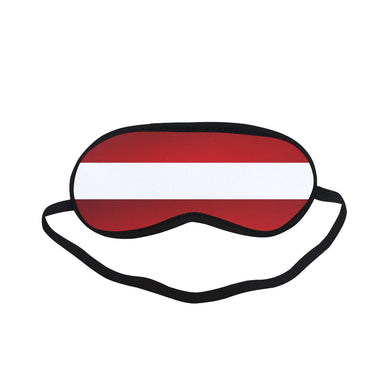Red White Stripes Sleeping Mask