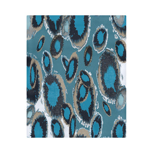 "Bluish Smudge Spots Duvet Cover 86""x70"" ( All-over-print)"