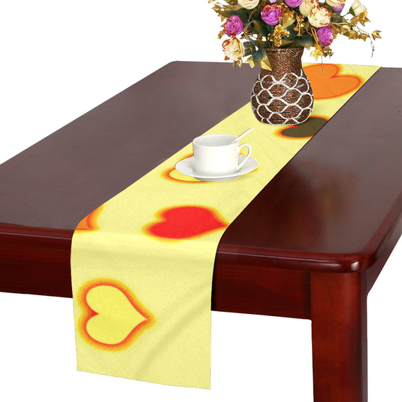 Hearts Pattern Table Runner 14x72 inch