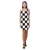 Black White Checkers Medea Vest Dress (Model D06)