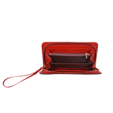 Shades of Red Patchwork Women's Clutch Wallet (Model 1637)