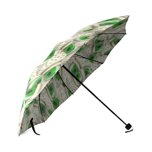 Green Bushy Eyebrows Foldable Umbrella