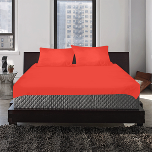 Pomegranate Solid 3-Pieces Bedding Set