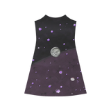 Lost Midnight Charcoal Stars Alcestis Slip Dress (Model D05)