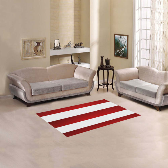 Red White Stripes Area Rug 2'7