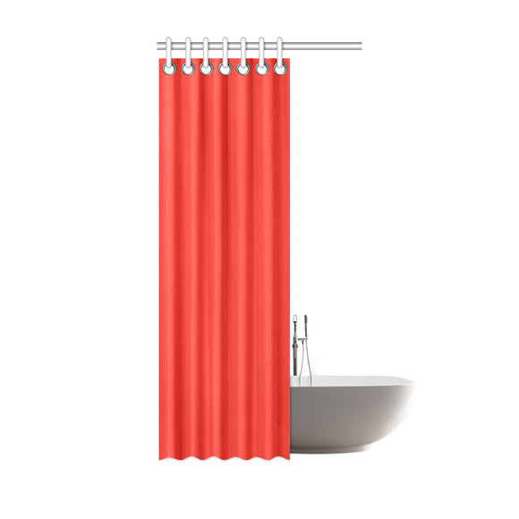 Pomegranate Solid Shower Curtain 36
